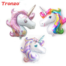 1pcs 39inch Cartoon Unicorn Balloon Foil Party di alluminio palloncini per la festa di compleanno per bambini Decorazione regalo