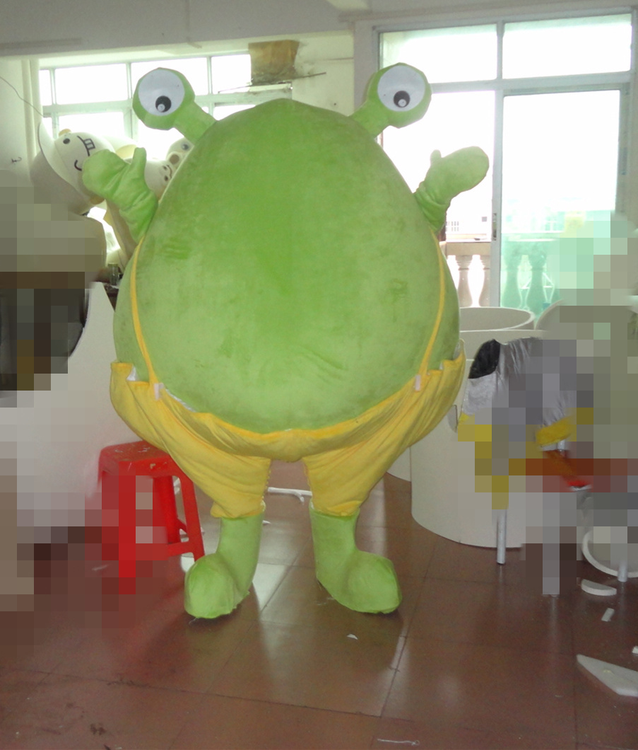 rana traje de la mascota de la rana animal traje de la