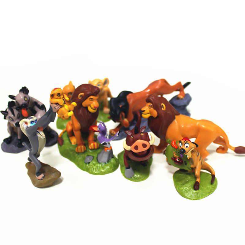 5-9 Pcs/set PVC Lion King Simba Nala Timon Tindakan Sosok Mainan Animal Lion Patung Mainan untuk Anak 5-9 Cm