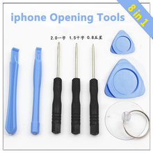8 in 1 Opening Tools Screwdriver Repair Moble Phone Disassemble Kit Set for iPhone 4 4S 5 6 For iPod Touch For Samsung S4 S3(China)