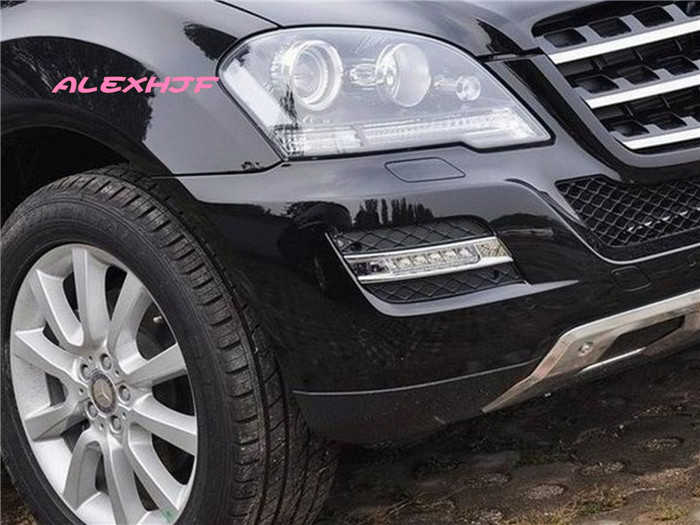 July King LED Daytime Running Lights DRL, LED Front Bumper Fog Lamp case for Benz W164 ML280 ML300 ML350 ML320 ML500 2009~11 front fog light for mercedes benz w163 ml270 ml230 ml320 ml400 ml350 ml500 ml430 ml55