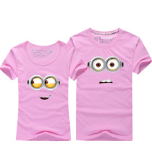 Despicable Me Little Yellow Man Short Sleeve T Shirt For Lovers Fashion Minions Cotton Couple T