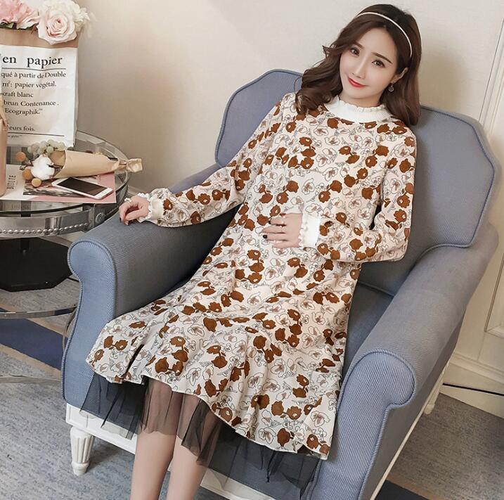 Spring and summer pregnant women dress new big size bottoming skirt D-36Spring and summer pregnant women dress new big size bottoming skirt D-36