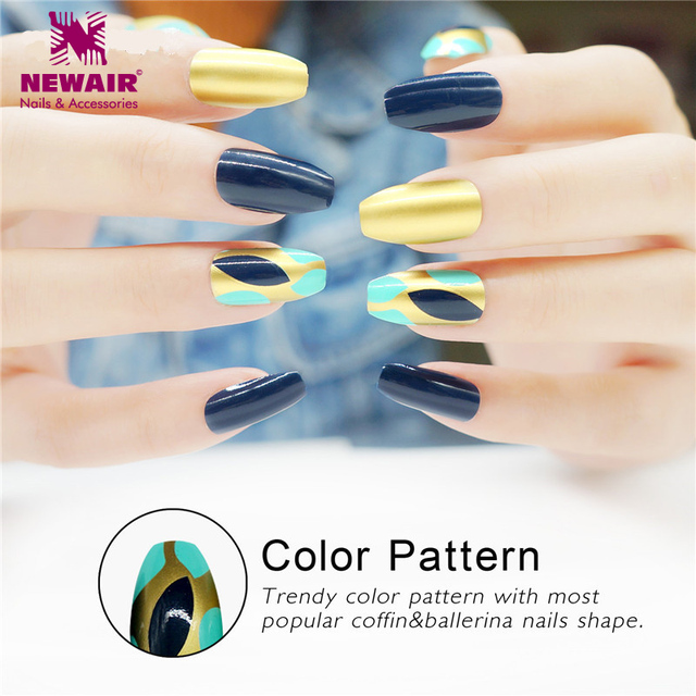 High Quality Ballerinas Fake Nails With Designs Long Coffin Nail