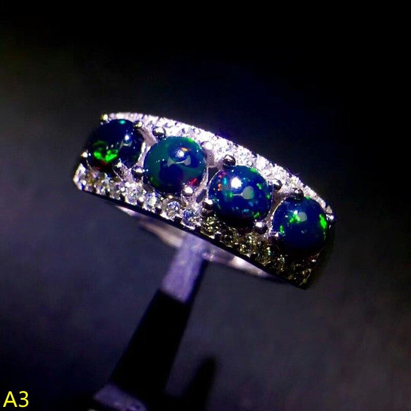 Bijoux KJJEAXCMY 925 argent pur incrusté de bagues en opale à colorier naturel, micro bijoux.