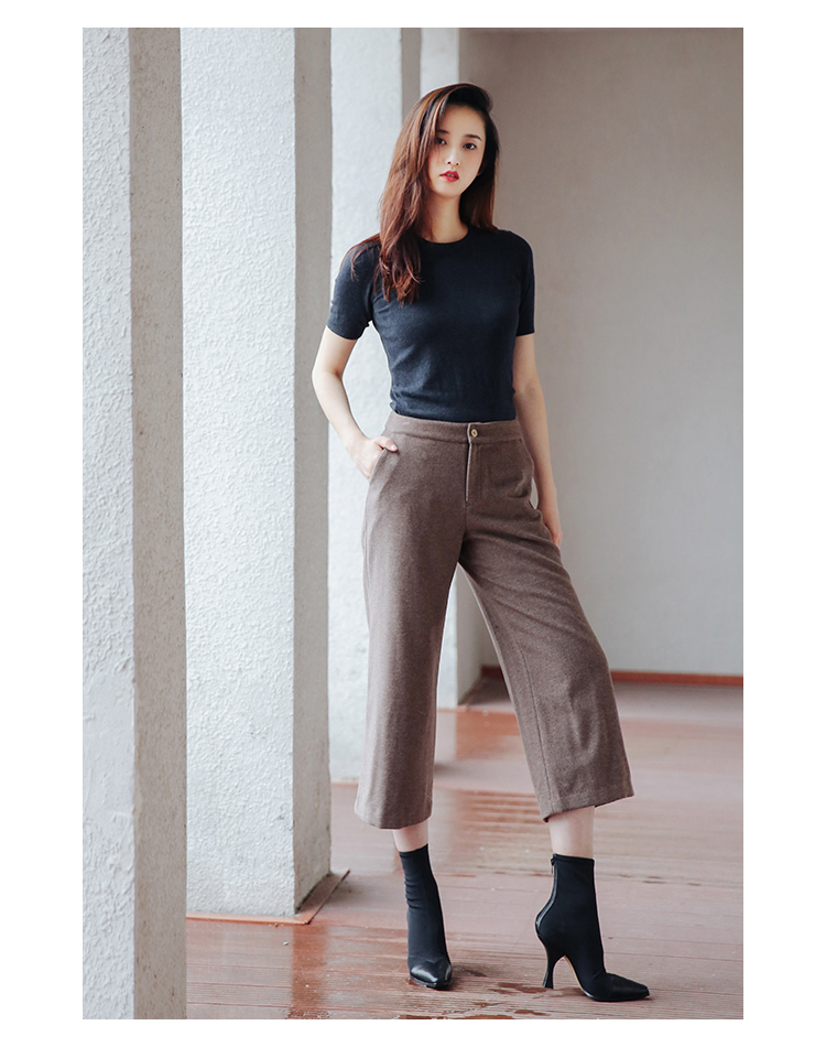 Wolle Braun Kalb Stil Regelmäßige England 100 Länge Hosen P0xHq4w