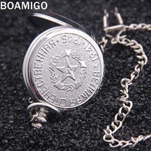 Image 4 - Мужские наручные часы BOAMIGO, серебристые наручные часы с подвеской в стиле «милитари»