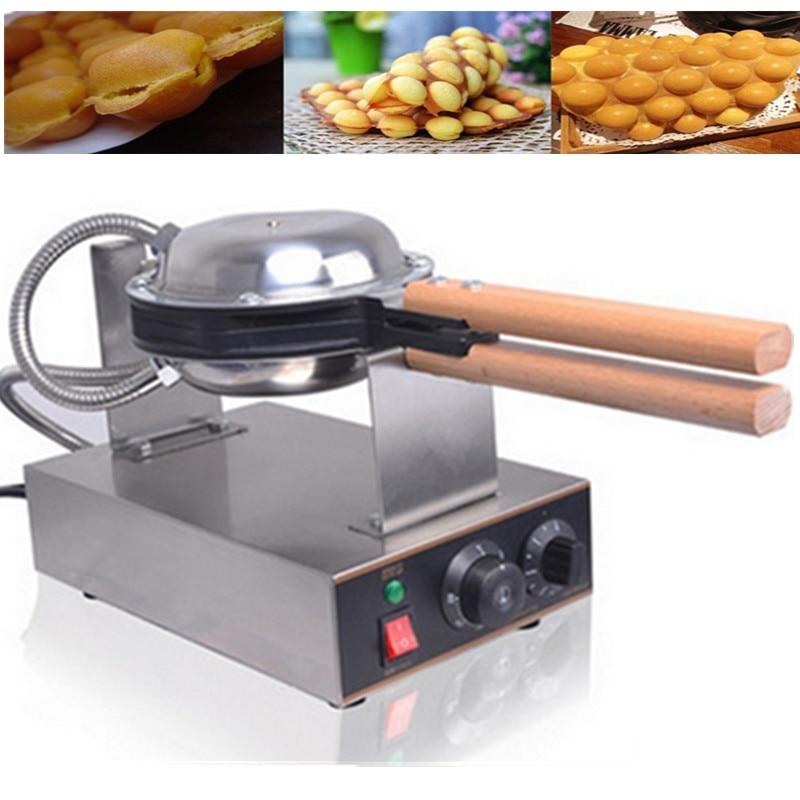 Electric Rotating Eggettes Cake Maker Machine Eggs Bubble Waffle Maker Baking Pan Home Kitchen Commercial Sandwich Maker