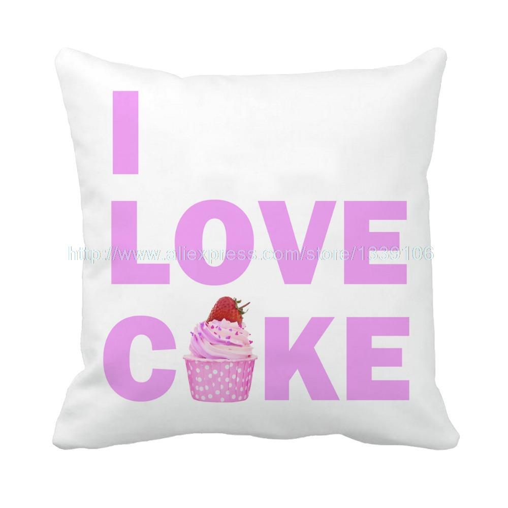 greedy I love cake print custom cushion home decor love pillow sofa bedding decorative pillow for couch white soft throw pillow