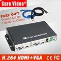 HDMI + VGA-ED H.264 HDMI + VGA декодер формата HD и кодировщик Поддержка ONVIF LIVE и NVR аудио ip кодировщик