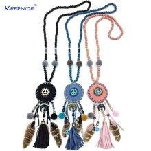 Женская одежда аксессуары богемные разноцветные бусы медальоны