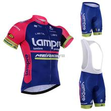 2016 Lampre Summer Breathable Mountian Bike Cycling Jerseys Quick Dry Ropa Ciclismo Cycling Clothes Cycle Bike