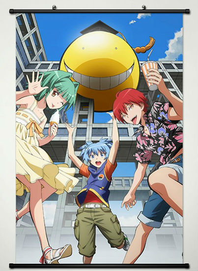 Wall Scroll Poster Fabric Printing for Anime Assassination