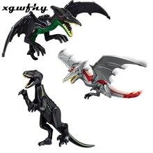 Jurassic World Dinosaur King size tyrannosaurus pterosaur mixed tyrannical dragon toy digital brick compatible lgoing JM199