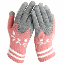 2019 Winter Fashion touch screen Gloves Women Girl Cute Cart