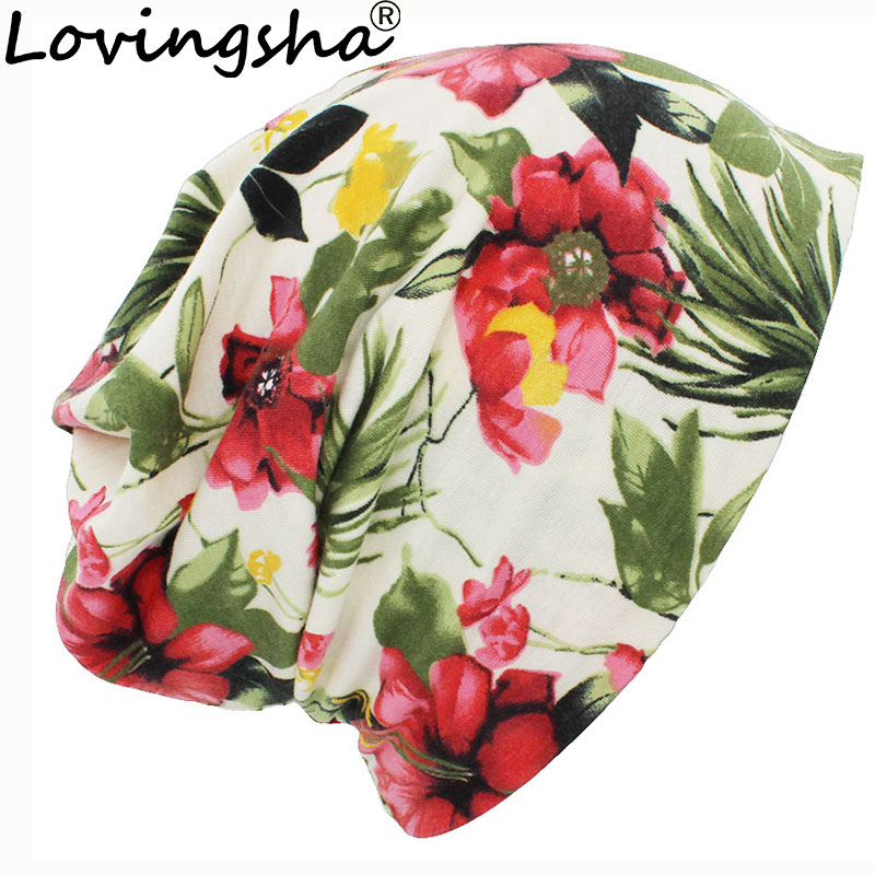 LOVINGSHA Autumn Winter Thin Men Skullies Beanies Cute Design Hats For Women Girl Hot Feminino Multifunction Warm Scarf HT103