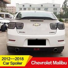 Используется для Chevrolet Malibu спойлер 2012 13 14 15 16 17 18 19 лет глянцевое углеродное волокно/FRP заднее крыло R стиль аксессуары для автомобиля refitt