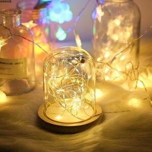 Image 1 - Fotoğraf sahne LED dize ışıkları gece lambası cam şişe Garland peri düğün noel partisi yatak odası dekorasyon fotoğrafları