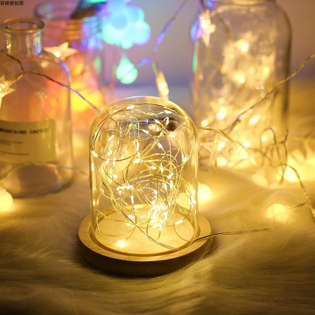 写真の小道具ledストリングライト常夜灯ガラスボトル花輪のための妖精の結婚式クリスマスパーティー寝室の装飾の写真