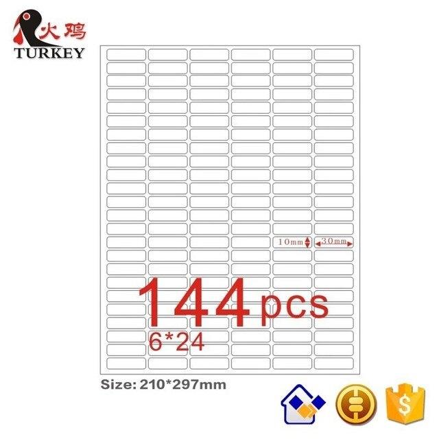 GL 47 (50 Lenzuola 7200 Adesivi) a4 Copriletto Opaco Autoadesivo di Carta Adesivo 30X10 Mm (Rotonda Angolo 144 Stks) Indirizzo Etichetta in Bianco