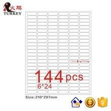 GL 47 (50 folhas 7200 adesivos) a4 folha mate auto adesivo papel 30x10mm (canto redondo 144 stks) etiqueta de endereço em branco