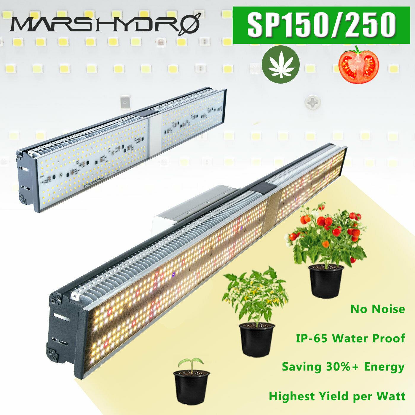 Neueste Mars Hydro SP 150 250 LED Wachsen Licht Gesamte Spektrum Indoor-Anlage Veg Blume Lampe Meanwell Fahrer Null Lärm wasserdicht