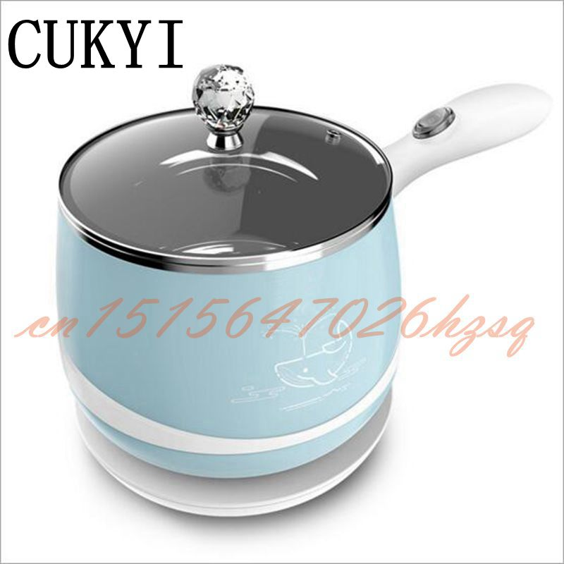 CUKYI 300/600W Multifunctional Electric Stainless steel cooker For Dormitory&Home Mini Chafing dish heat insulation cukyi double layer multi function electric egg cooker boiler stainless steel automatic power off mini