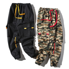 Men Brand Casual Pants Pockets Cargo Army Military Male Harem Joggers Harajuku Hip Hop Trousers Mens Tactical