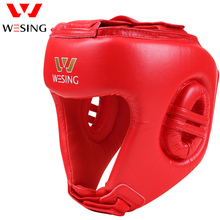 Wesing AIBA Approved Boxing Head Guard Half-covered Helmet Professional Sanda Martail Arts Competition Protector Head Gear professional five pieces set sanda protective gear full set flanchard head protection