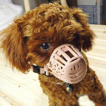 Plastic Basket Adjustable Dog Muzzle Mask Cage Safety Mouth Mesh Supplies Sale LS