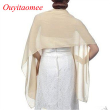 Купить с кэшбэком 2020 Cause Women Chiffon Wraps and Shawl 200*45cm shawls for wedding Dress Long scarf Bridal Wraps for Evening Party Dress