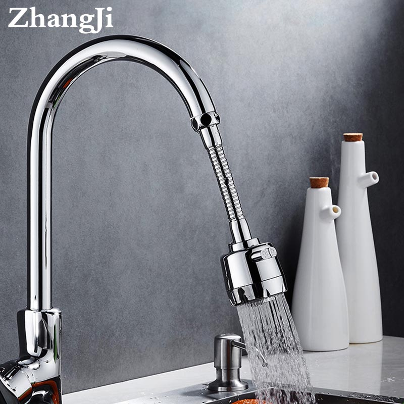 ZhangJi Splash-proof Tap Aerator Diffuser Rotating Flexible Faucet Extender Bubbler Shower Nozzle Bathroom Kitchen Accessories
