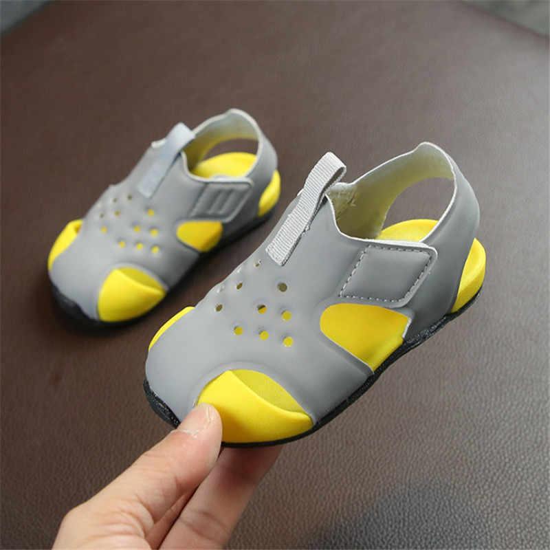 5283d58fed8a2 DIMI 2019 新夏幼児靴ソフトベビーサンダルファッション通気性の男の子女子ビーチ