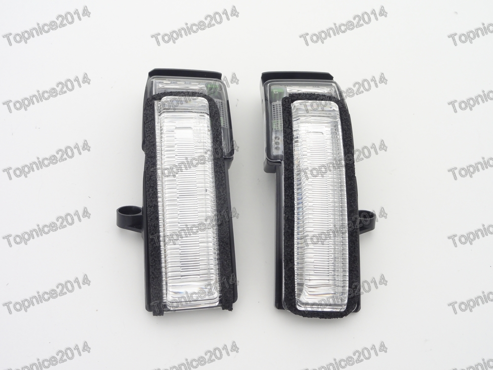 1Pair Door Wing Mirror Indicator Lights Turn Signal Lamps For Ford F150 Lower Configuration door mirror turn signal light for mercedes benz w163 ml270 ml230 ml320 ml400 ml350 ml500 ml430 ml55