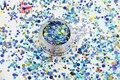 RA321-179 Mezclar Colores formas de Punto redondo Del Brillo para el arte del clavo, gel de uñas, maquillaje y la decoración de DIY