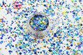 RA321-179  Mix Colors Dot shapes round  Glitter for nail art ,nail gel,makeup and DIY decoration