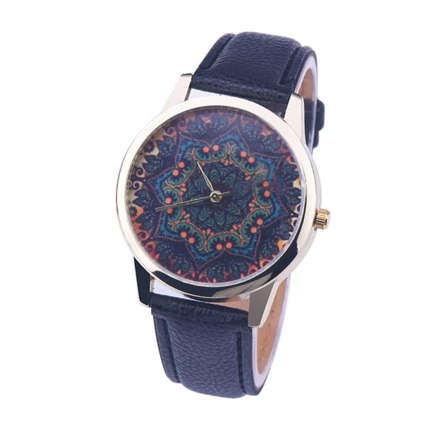 MALLOOM women watches black leather strap Round Quartz Wrist Watches Relogios feminino Drop shipping #C