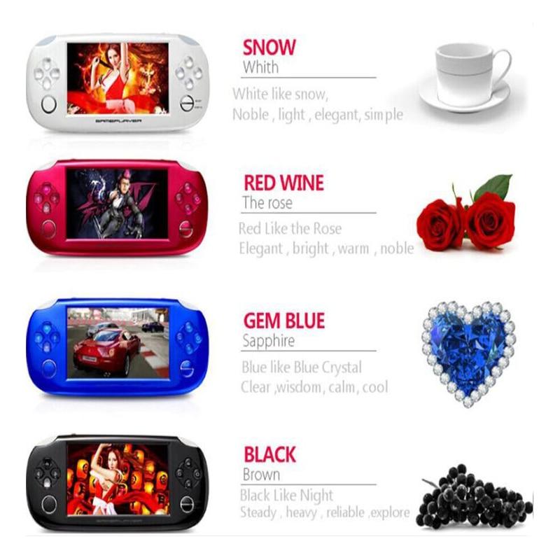 4.3 pouces 8 GB écran tactile Console de jeu Portable Portable MP4 MP5 Console de jeu vidéo lecteur cadeau pour enfants