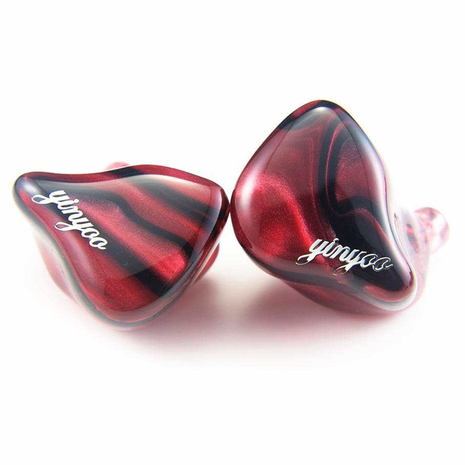 Newest Yinyoo HQ6 6BA in Ear Earphone Custom Made Balanced Armature Around Ear Earphone With MMCX Plug Earphone