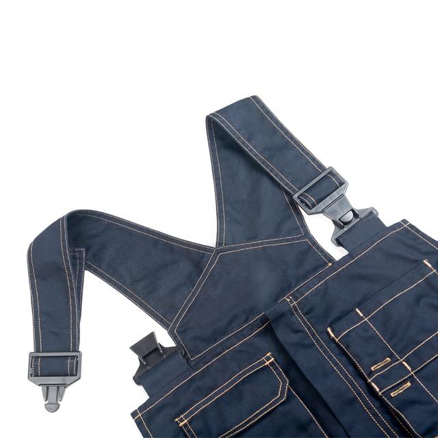2018 Bib Overalls Men Work Coveralls Multi-Functional Pockets Repairman Strap Jumpsuits Pants Wear-Resistance Working Uniforms 1