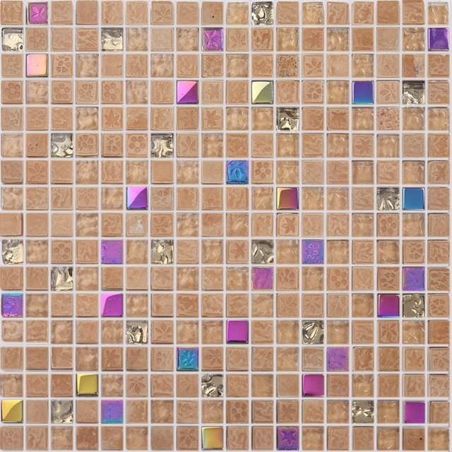 1 Piece Stained Gl Mixed Stone Mosaic Tile Square For Kitchen Backsplash Bathroom Shower Tiles