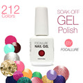 Hot Sale Focallure Gel Polish 30 Days Long-Lasting Soak-off Nail Polish Gel Polish 15ml/Pcs 212 Colors The Best Gel Polish