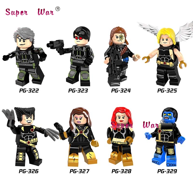 20pcs Longshot Figure Ultimate Angel Wolverine Rogue Jean Grey Beast Quicksilver Cyclops building blocks bricks classic toys