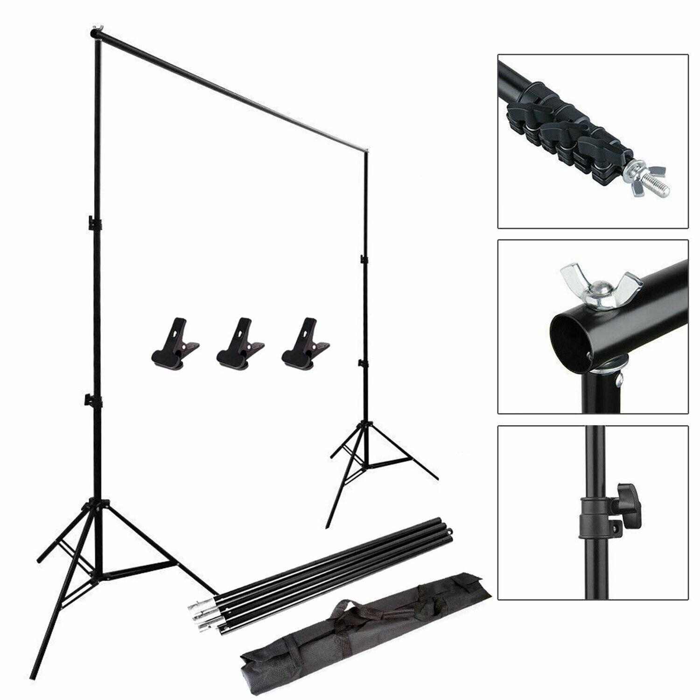 ZUOCHEN Photography Adjustable 10Ft Background Support Stand Photo Crossbar Studio Kit