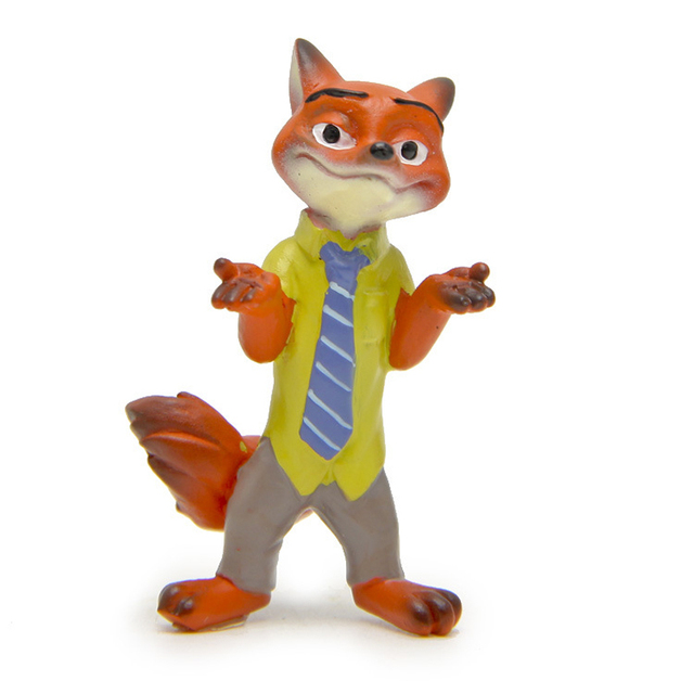 Zootopia Animals Figures Toys 4.5cm Cartoon Movie Fox Nick