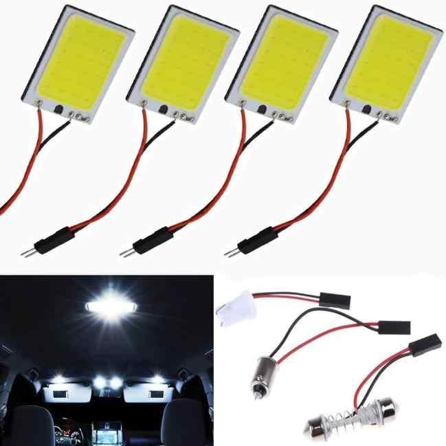 أزياء سيارة ضوء 8 واط COB 24 رقاقة LED سيارة الداخلية ضوء 12 فولت مصباح لوح سيارة مصدر ضوء لمبة سيارة مصباح تلقائي 45 #