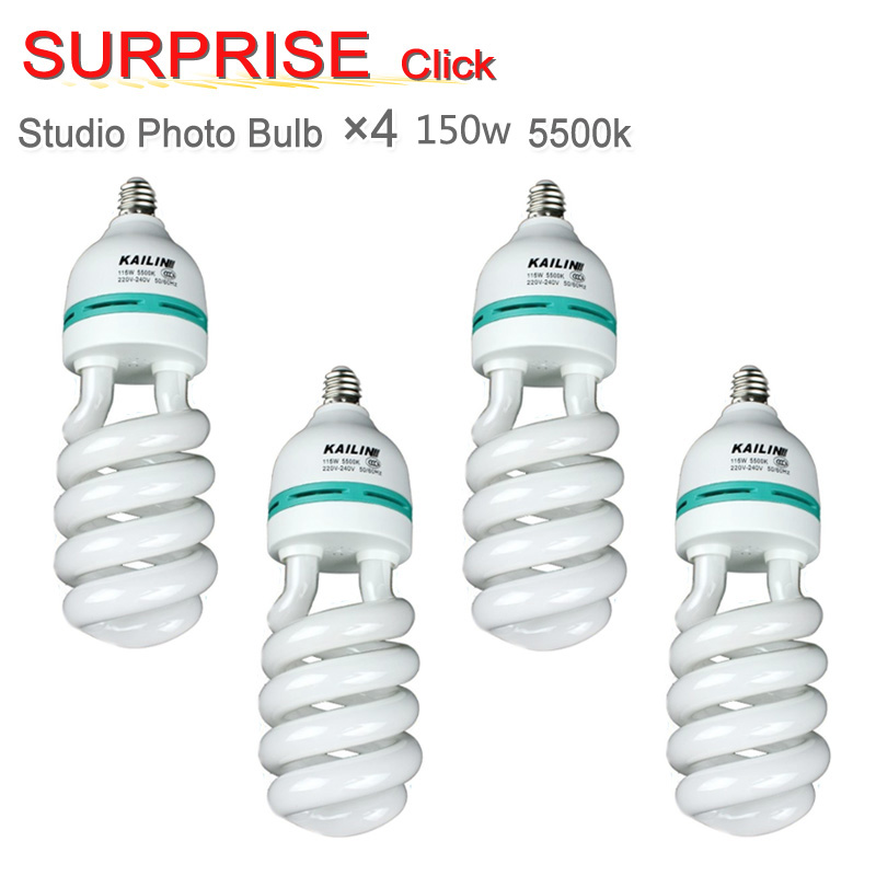 Yuguang Photography Lighting Pro E27 220V 150W 5500K Photo Video Bulb Photography Studio Light Lamp 4pcs new photographic equipment 8pcs pro e27 220v 45w 5500k photo video bulb photography studio light lamp freeshipping