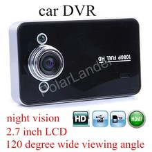 Buy K6000 car DVR 2.7 inch 120 degree wide viewing angle 1080P Full HD Camera Recorder Night vision digital video camcorder dashcam