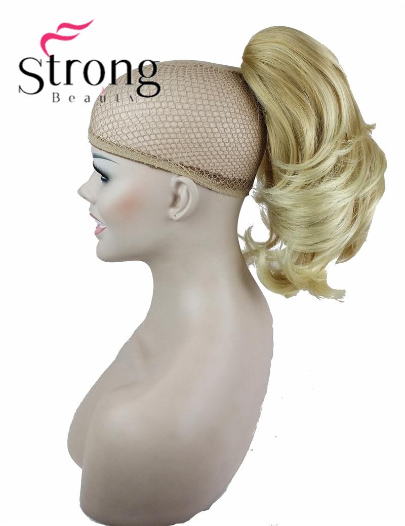 Extension de cheveux Synthétiques Dame Wowen Ondulés Double Usage Griffe Clip Queue de Cheval Queue de Poney Extension de Cheveux postiche COULEUR CHOIX