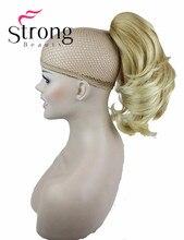 Расширение волос Синтетические Леди Wowen Волнистые Коготь Клип Ponytail Конский Хвост Волос Расширение парики ЦВЕТ ВЫБОР